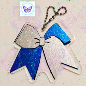 CHEER BOW KEYCHAIN BY CR8TIVE RELEASE GIFTS