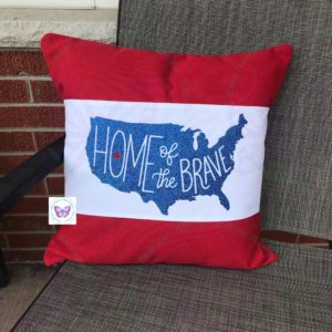 HOME OF THE BRAVE PILLOW BAND & PILLOW COMBO BY CR8TIVE RELEASE GIFTS