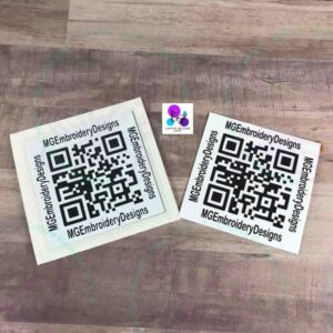 QR CODE Permanent Vinyl Decal by Cr8tive Release Gifts