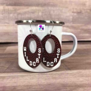 FOOTBALL MOD EARRINGS BY CR8TIVE RELEASE GIFTS
