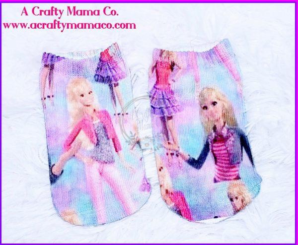 Barbie Doll Socks Sublimation