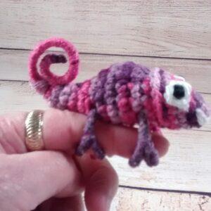Pink Purple Chameleon Finger Pet