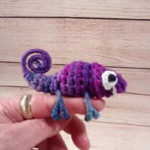 Purple Purple Chameleon Finger Pet