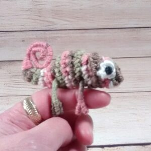 Pink-Camo Chameleon Finger Pet