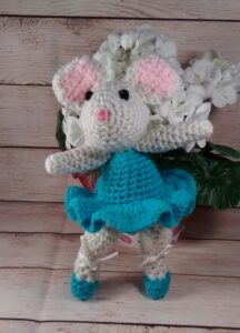 Turquoise Ballerina Mouse