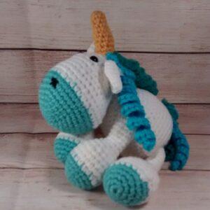 Plush Blue Unicorn Toy