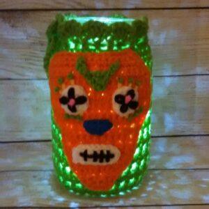 Green-Orange Jar Cozy