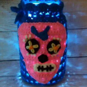 Blue-Pink Jar Cozy