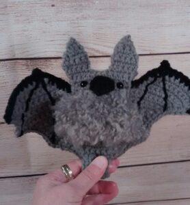 Crochet Halloween Grey Bat