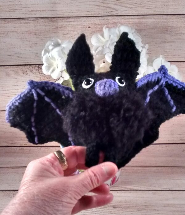 Crochet Halloween Black Bat