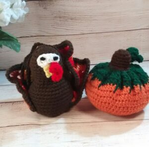 Turkey Pumpkin Set Decoration