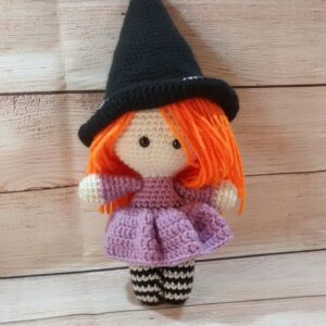 Witchy Plush Halloween Doll