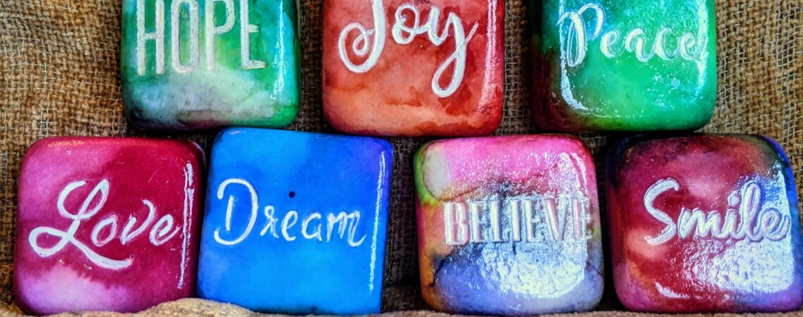 Inspirational word Painted Rocks