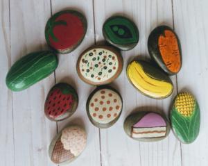 Play Food/Mud Kitchen Painted Rocks