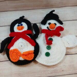 Penguin Snowman Wall Decoration