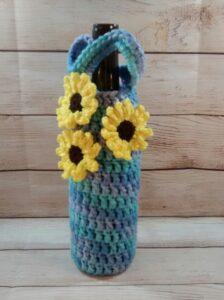 Flower Wine Bottle Cozy