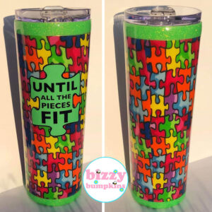 Autism Awareness Stainless Steel Hand Crafted Tumbler