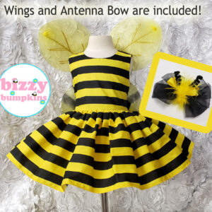 Bumble Bee Sleeveless Dress has built in petticoat and comes with wings & Bow