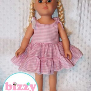 "18"" Doll Gingham Twirly Dress"