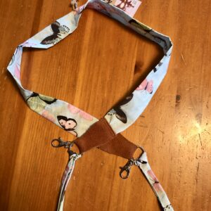 Camera Scarf Strap (butterflies) created by Scrapper's Snips and Stitches, Stock That Sock! Sale