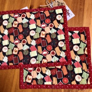 Table Linens (Snack Mats) kitchen print created by Scrapper's Snips and Stitches, Stock That Sock! Sale