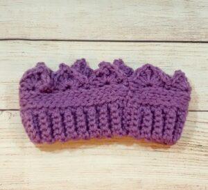 Toddler Purple Crown Ear-Warmer