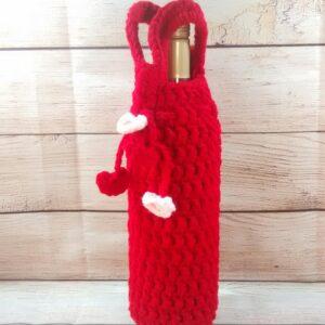 Valentine Wine Bottle Tote
