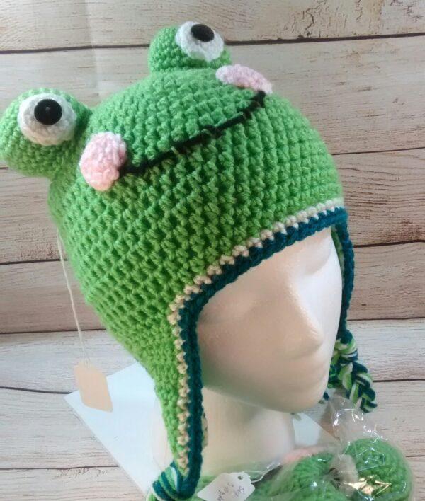 Froggy Winter Child's Hat