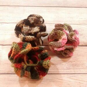Camo Crochet Scrunchie Set