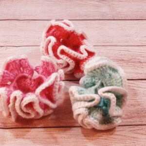 Pastel Crochet Scrunchie Set