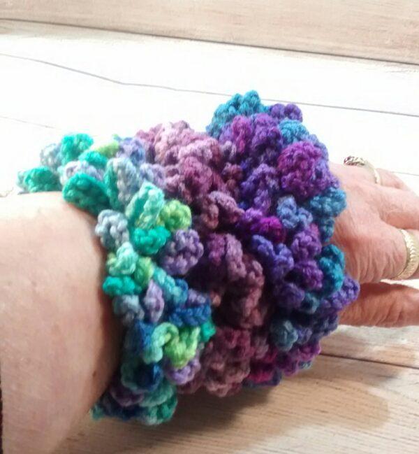 Purple Crochet Scrunchie Set