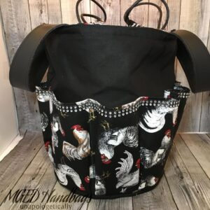 Rooster and Bling Bingo Bag Custom Order for Luke Handmade by MGED Handbags