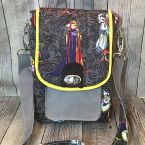 Call Me Evil Queen Cross Body Bag Handmade by MGEDHandbags