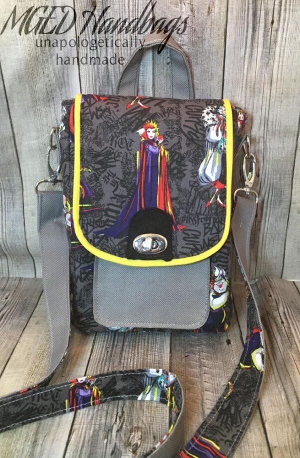 Call Me Evil Queen Cross Body Bag Handmade by MGEDHandbags