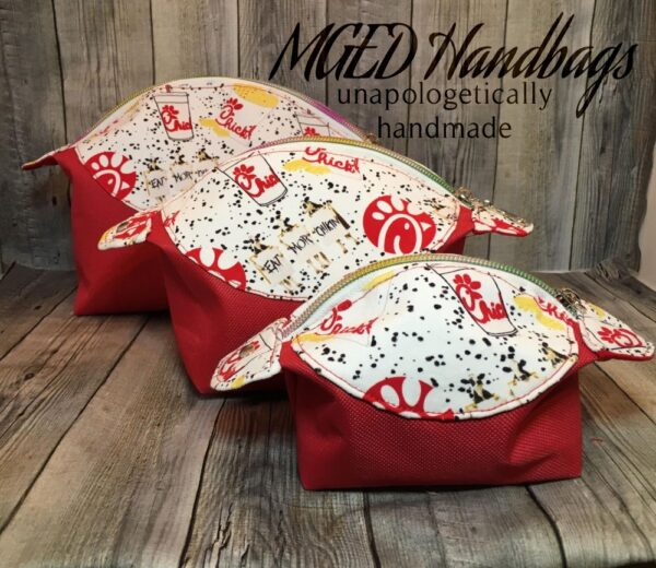 ChickFilA Pong Pouch Bag Handmade in 3 Sizes by MGED Handbags