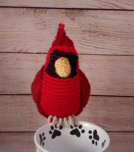 Cardinal Crochet Bird Decoration