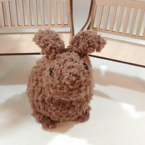 Custom Order Fluffy Chocolate-Bunny