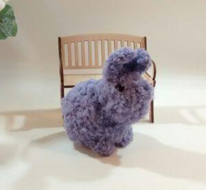 Custom Order Fluffy Purple-Bunny