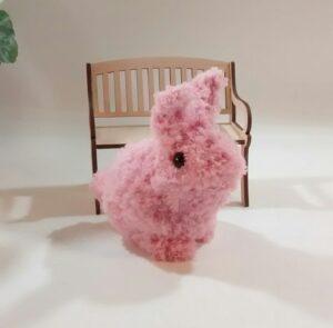 Custom Order Fluffy Pink-Bunny