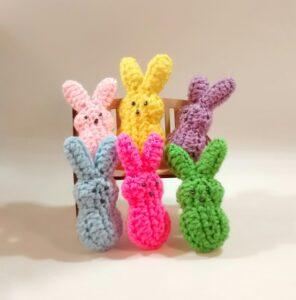 Crochet Buuny Peep Family