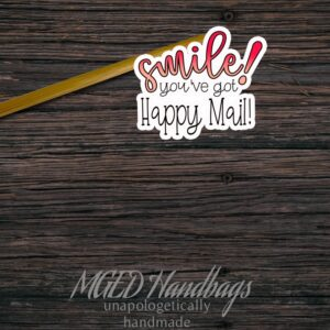 Smile Happy Mail Sticker Sheet of 11 made by MGED Handbags