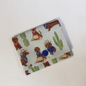 Cowboy Dachshund Print Card Wallet by Doxie Days