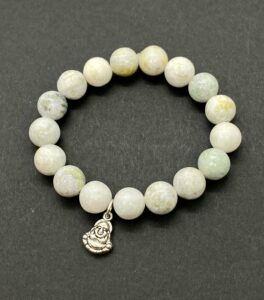 Amazonite Stretch Bracelet with Buddha Charm