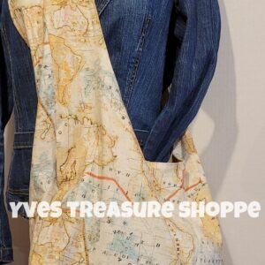 World Map Sling Tote