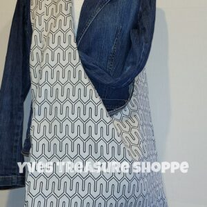 Oversized Gray Sling Tote