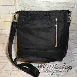 Belavour Crossbody Bag In Your Choice of Fabric, Shipping Included, Custom Order, Handmade by MGED Handbags