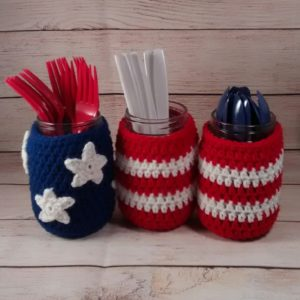 Patriotic Flag Jar Covers