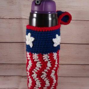 Patriotic Water Bottle Holder