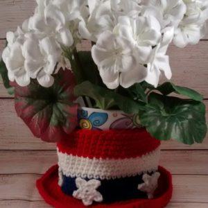 Patriotic Hat Dish Decoration