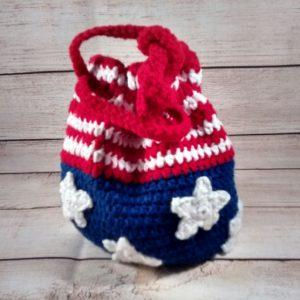 Patriotic Crochet Flag Purse